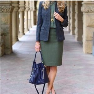 NWT J. Crew Olive pencil skirt wool size 4